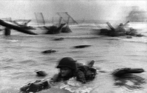 D-Day landing shot by Frank Capa